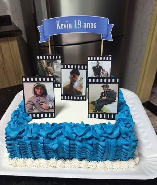 bolo masculino com decoração simples
