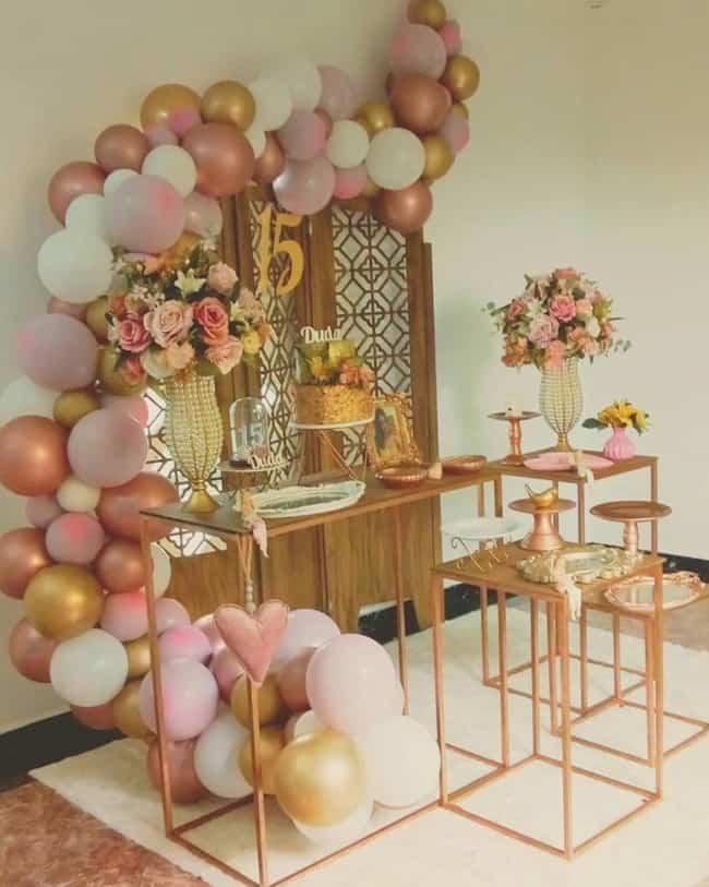 decoração com vasos de flores