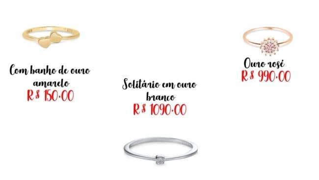 modelos de anel de debutante