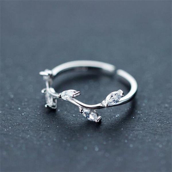 anel delicado em prata