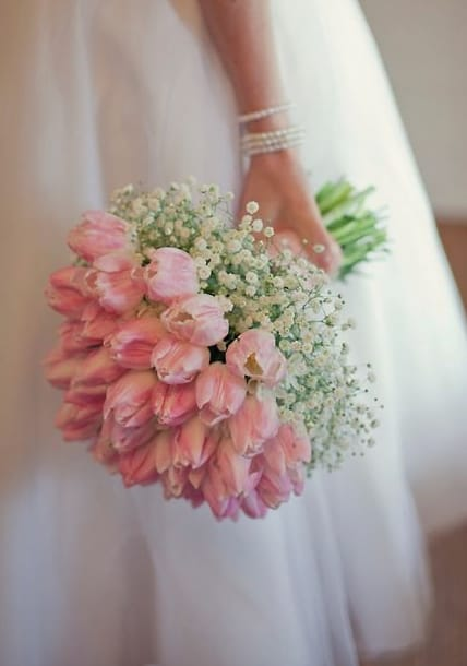 buquê de tulipas cor de rosa
