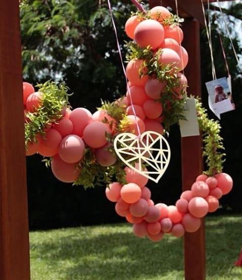 decoração para festa ao ar livre