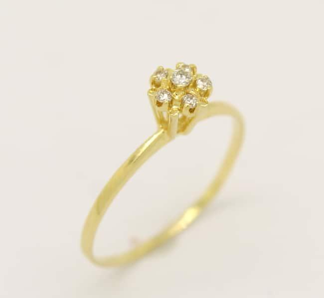 anel chuveirinho em ouro amarelo
