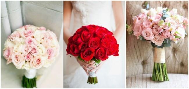 buquê de noiva de rosas