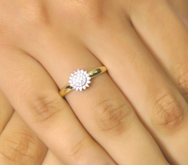 anel de debutante chuveirinho