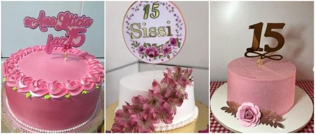 bolos de chantilly para festa de 15 anos simples