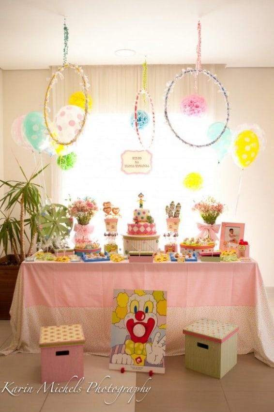 decoração festa palhaço