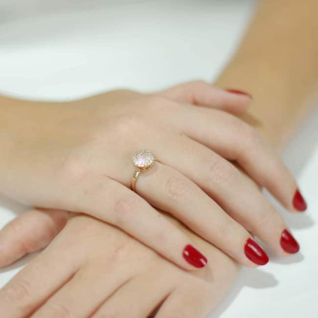 anel feminino chuveirinho