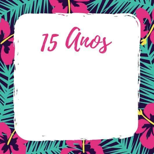 convite para festa tropical