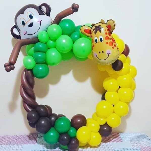 decoração festa infantil safári