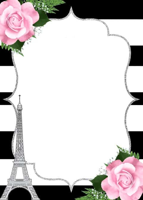 convite torre eiffel para imprimir grátis