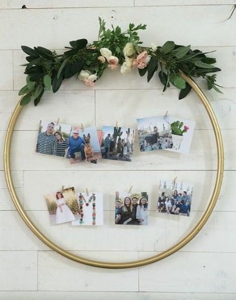 arco decorado com fotos