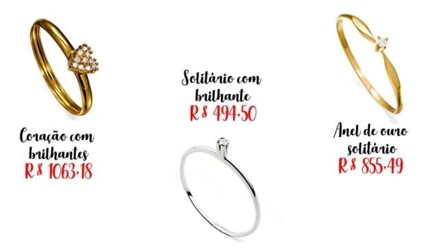5 preços e onde comprar anel feminino