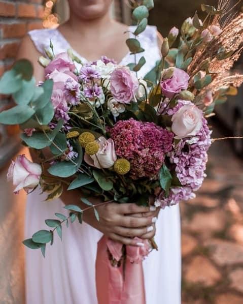 flores rústicas para casamento