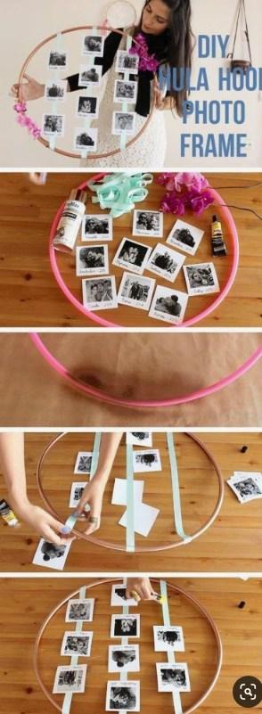 DIY bambolê com fotos