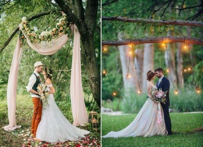 Altar simples de casamento