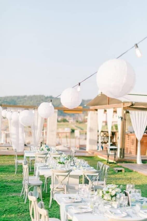 Casamento ao ar livre no campo ideias