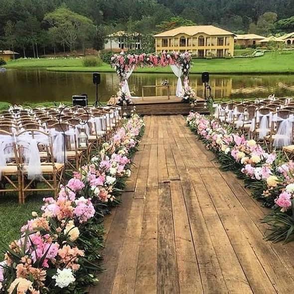 Flores ornamentais em casamento