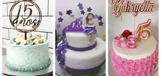 Montagem de topo de bolo de 15 anos