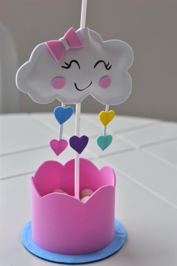 Lembrancinha chuva de amor para chá de bebê