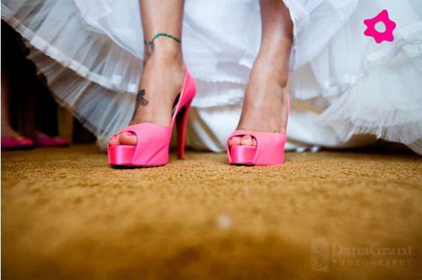 Salto pink para debutante