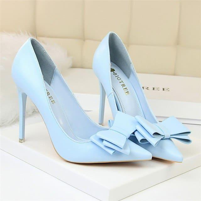 Sapato azul bebê