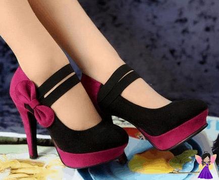 Sapato preto com pink 1