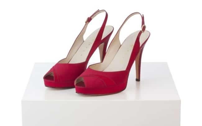 Sapato vermelho para debutante