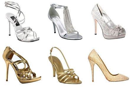 Sapatos de 15 anos metalizados