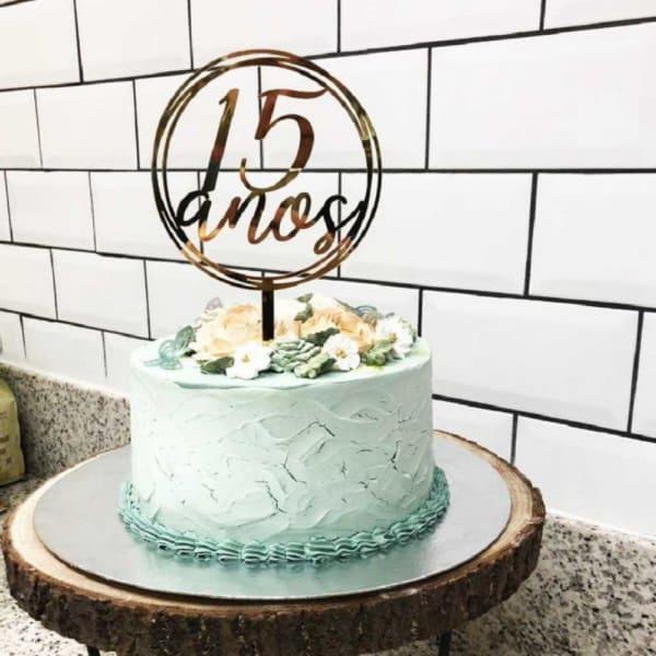 Topo de bolo 15 anos números
