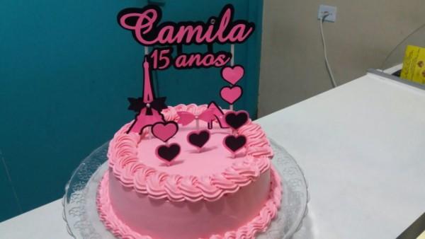 Topo de bolo decorado