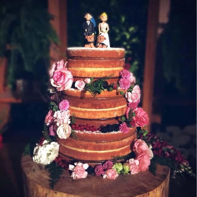 bolo de casamento rústico naked cake