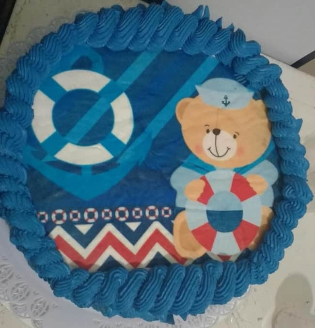 bolo decorado com tema marinheiro