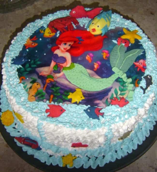 bolo simples da pequena sereia