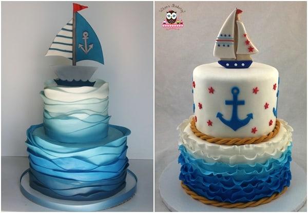 bolos para chá de bebê marinheiro