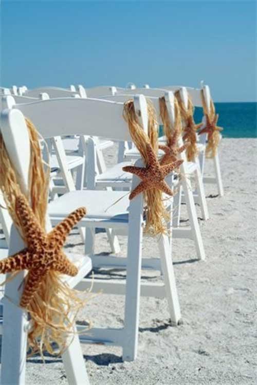 cadeiras em casamento na praia