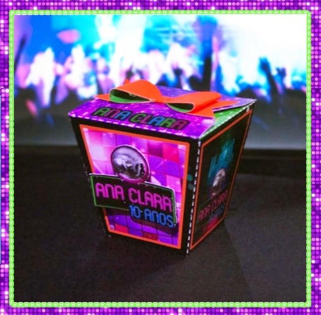caixa lembrancinha neon