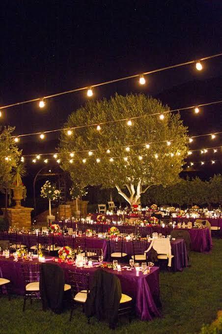 casamento ao ar livre a noite como fazer