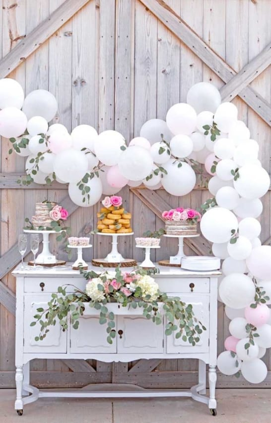 casamento decorado com balões