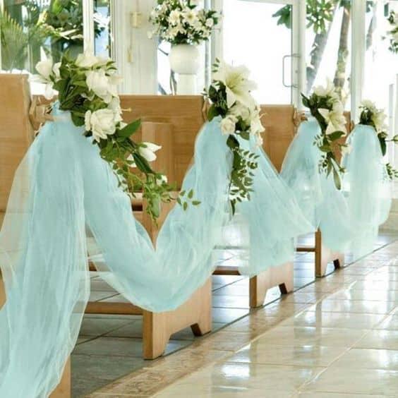 casamento decorado com panos