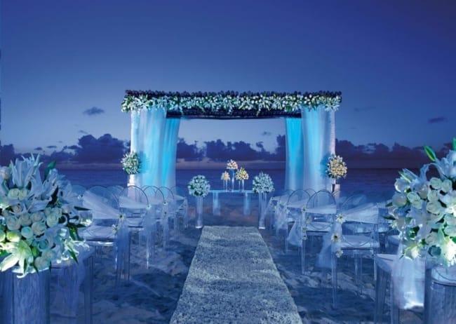 Dica para cerimônia de casamento na praia no cair da tarde