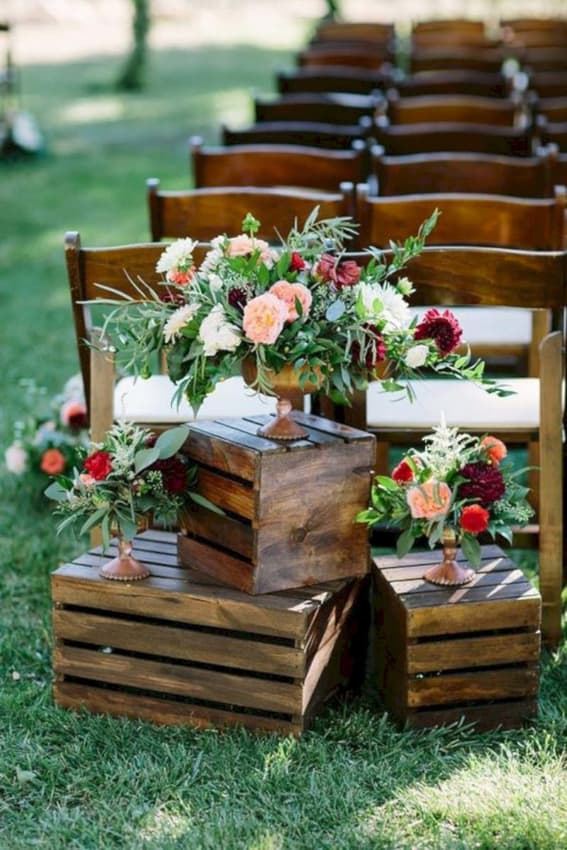 cerimônia do casamento rústico