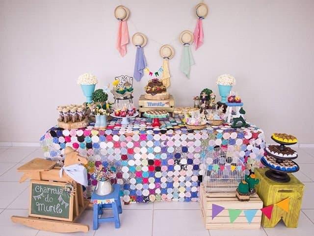 chá de bebê junino decorado
