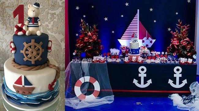 chá de bebê marinheiro chique