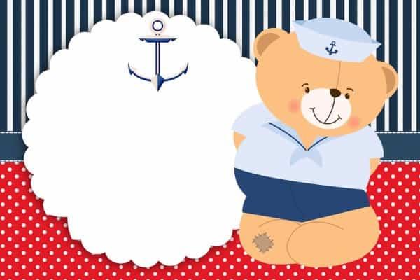 convite chá de bebê marinheiro