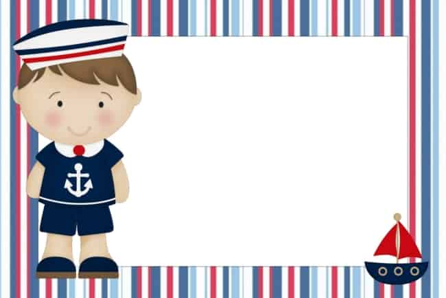 convite de chá de bebê marinheiro para imprimir grátis