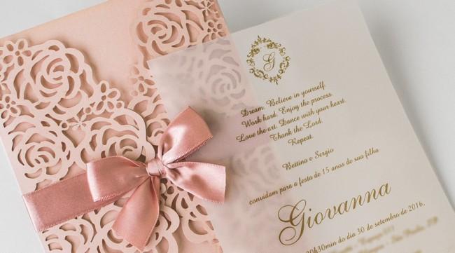 convite de festa de debutante