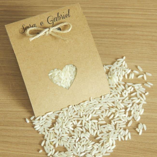convite para casamento rústico com arroz