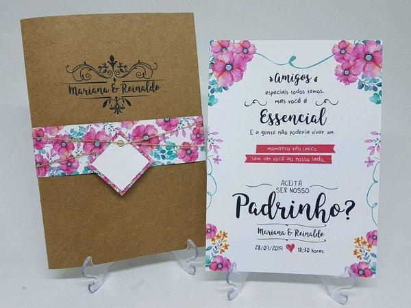 convite para padrinhos de casamento criativo