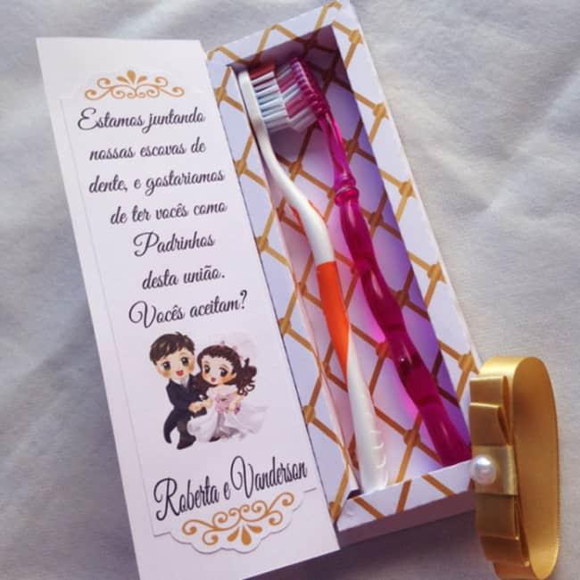 convite simples para padrinhos de casamento